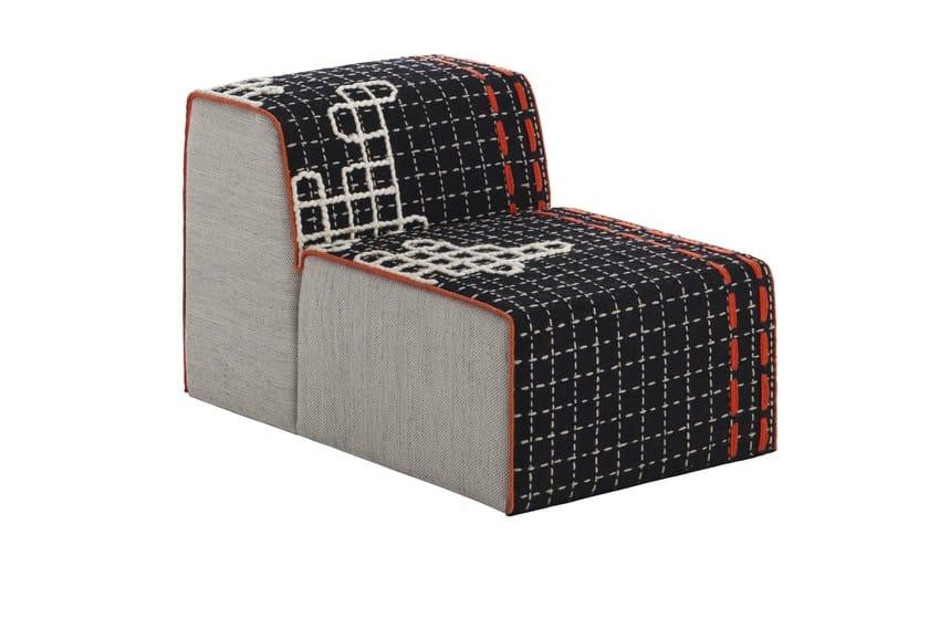 Upholstered modular fabric easy chair BANDAS D | Easy chair by GAN