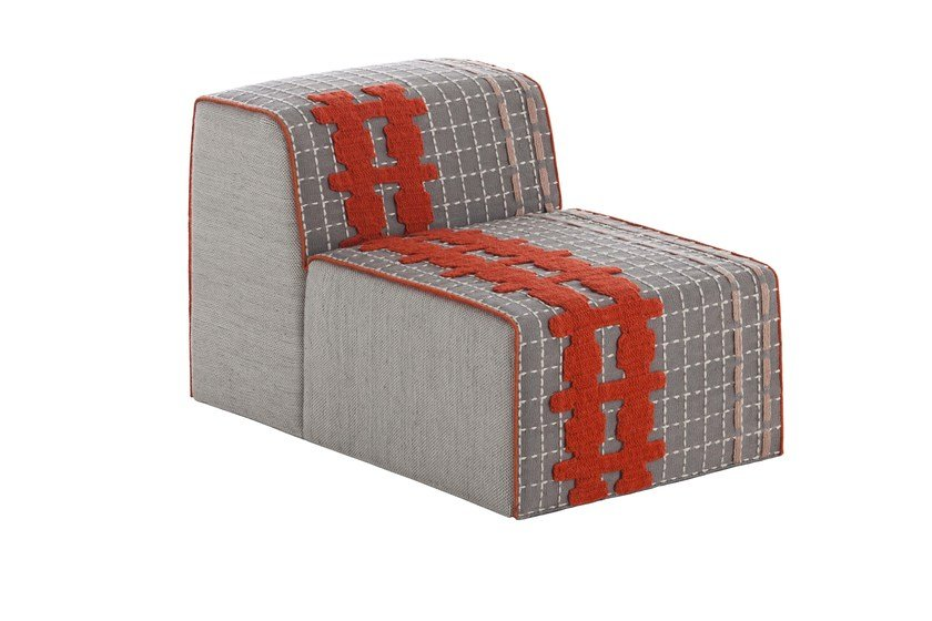 Upholstered modular fabric easy chair BANDAS E | Easy chair by GAN