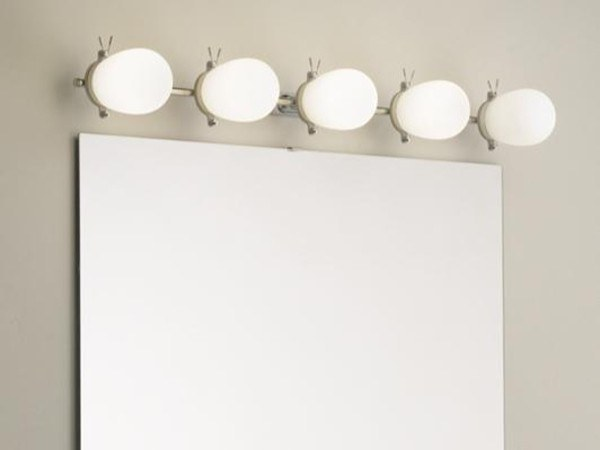 LED stainless steel wall light with dimmer BAÑO 5834 by Milan Iluminacion