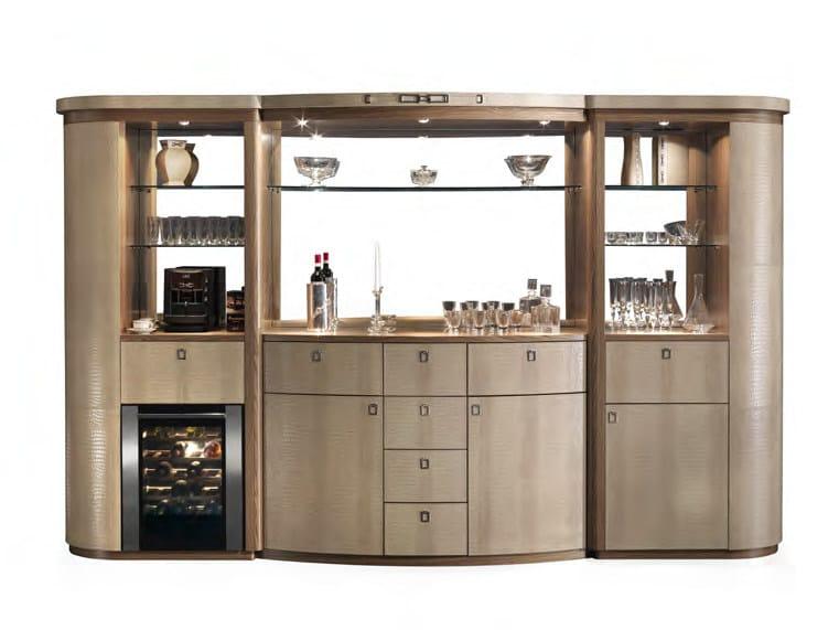 Leather bar cabinet LONDON | Bar cabinet by Formitalia