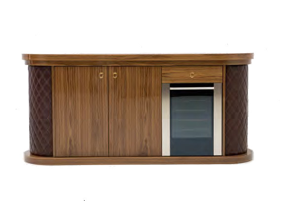 Lacquered wood veneer bar cabinet MICKY | Bar cabinet by Formitalia