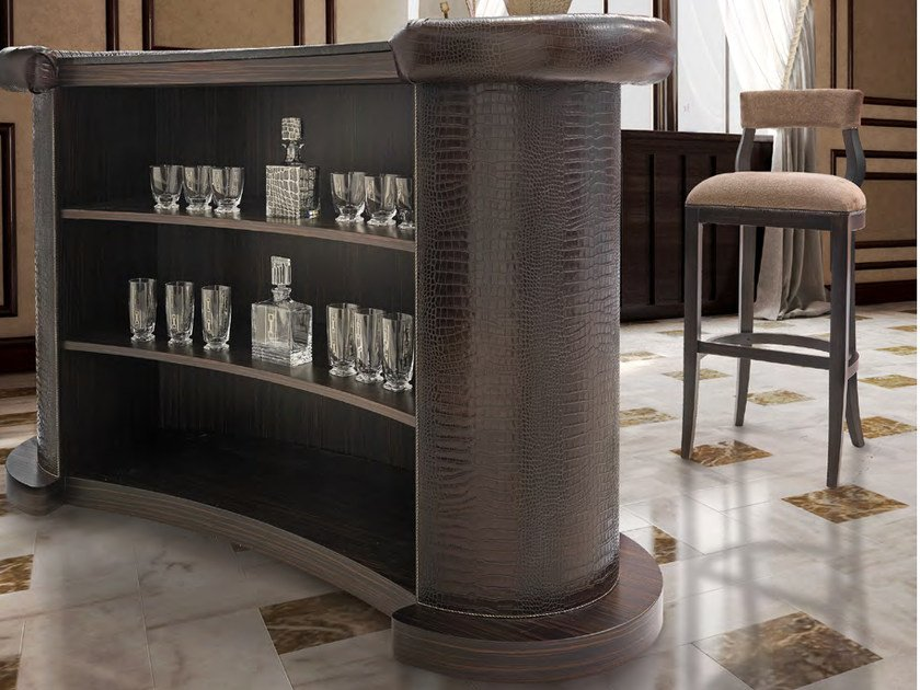Leather bar counter PLAZA | Bar counter by Formitalia
