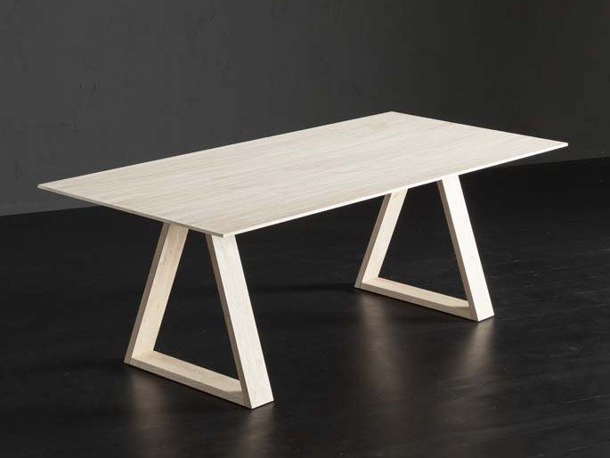 Rectangular oak dining table BARCELLONA + MEKANO by AltaCorte
