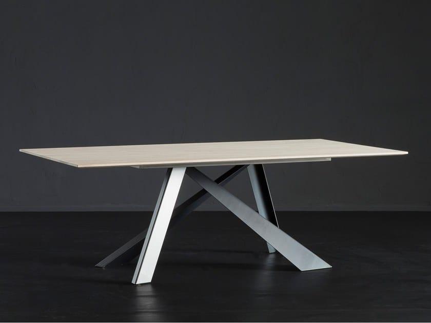 Rectangular oak dining table BARCELLONA + METAL by AltaCorte