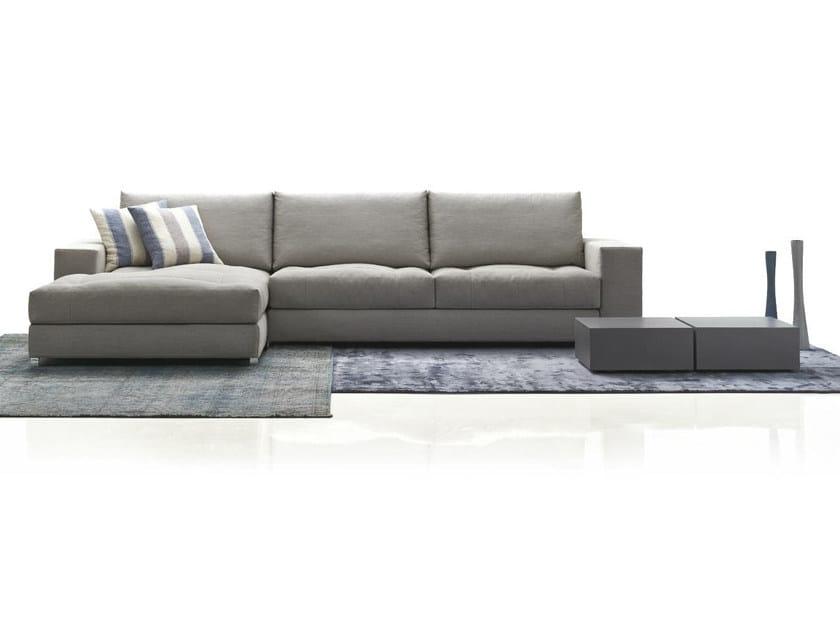 Fabric sofa with chaise longue BARCELONA by Papadatos