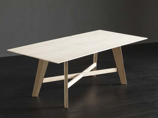 Rectangular wooden dining table BARCELLONA + PECHINO by AltaCorte