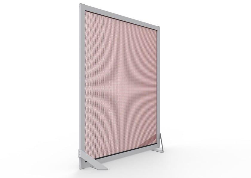 Aluminium room divider BARCELONA SCREEN DIVIDER PINK by Kriskadecor