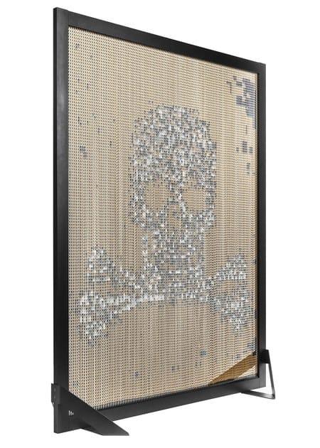 Aluminium room divider BARCELONA SCREEN DIVIDER SKULL by Kriskadecor