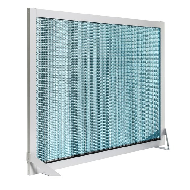 Aluminium room divider BARCELONA SCREEN DIVIDER TURQUOISE by Kriskadecor