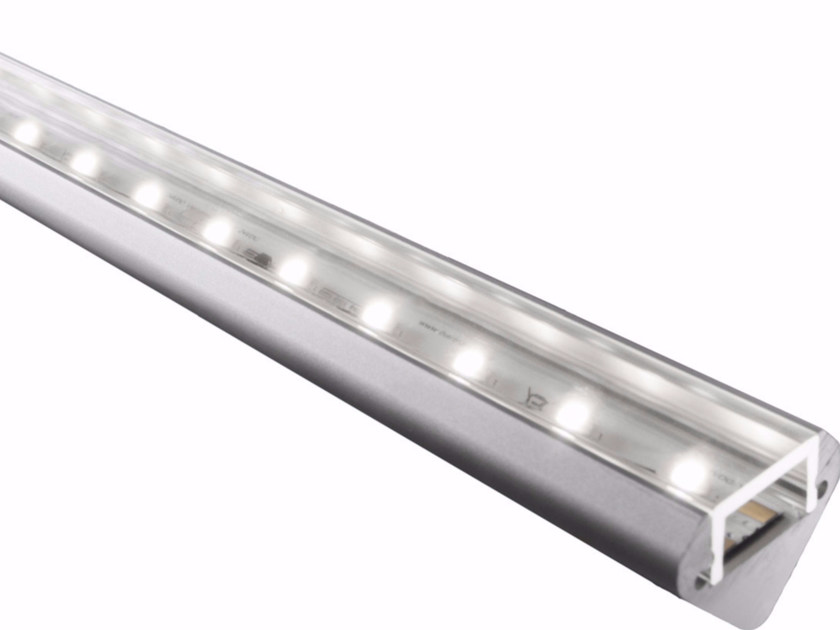 Ceiling mounted aluminium Linear lighting profile for LED modules BARD ANGOLO by GLIP by S.I.L.E