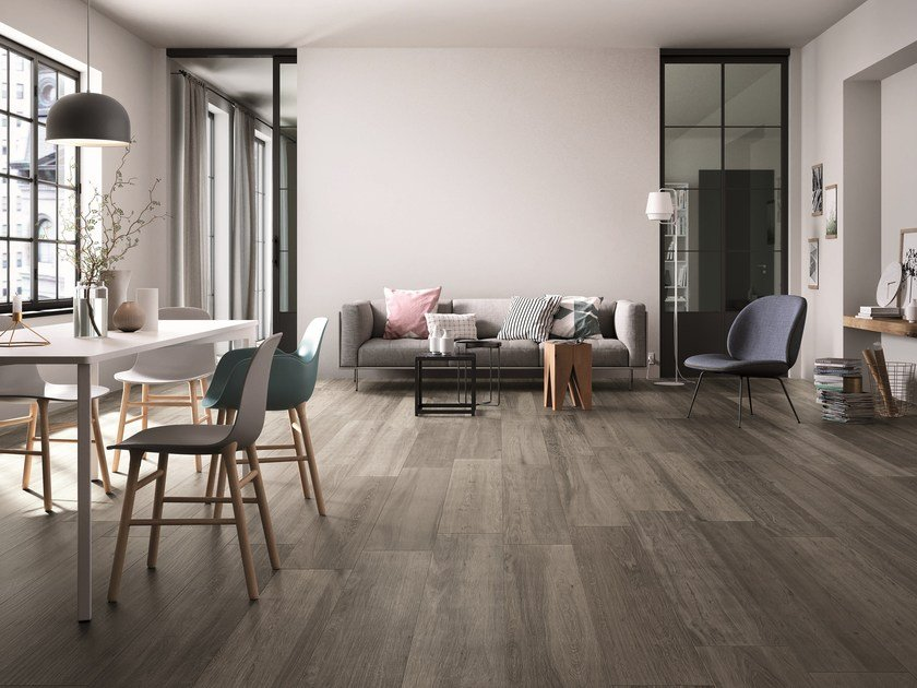 Frost proof indoor/outdoor porcelain stoneware flooring with wood effect BARK | Flooring by FAP ceramiche