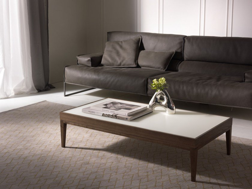 Low solid wood coffee table BARNABY | Rectangular coffee table by Pacini & Cappellini