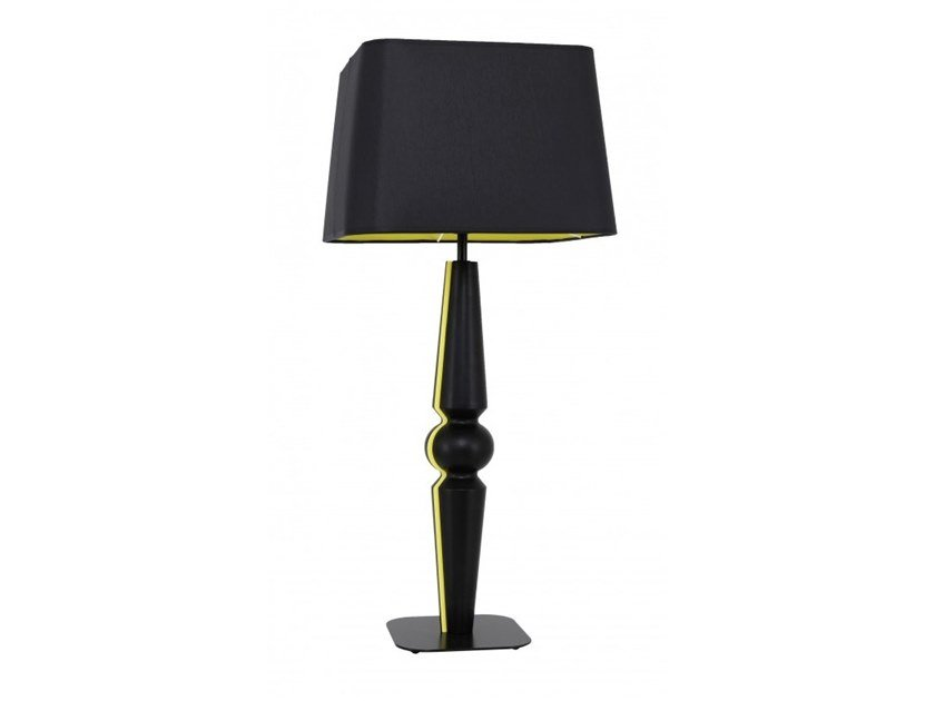 Wooden table lamp BAROC by Flam & Luce