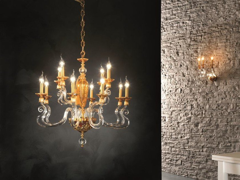 Chandelier with Swarovski® Crystals BAROCCO L8+4 by Euroluce Lampadari