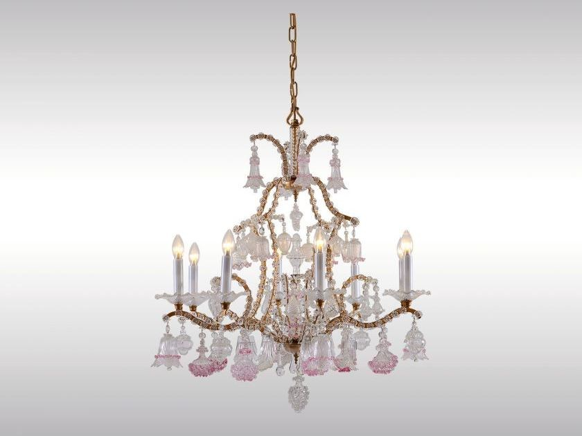 Classic style glass chandelier BAROCKLUSTER by Woka Lamps Vienna