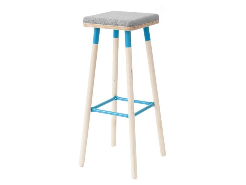 High stool with integrated cushion MARCO | Stool with integrated cushion by Askia