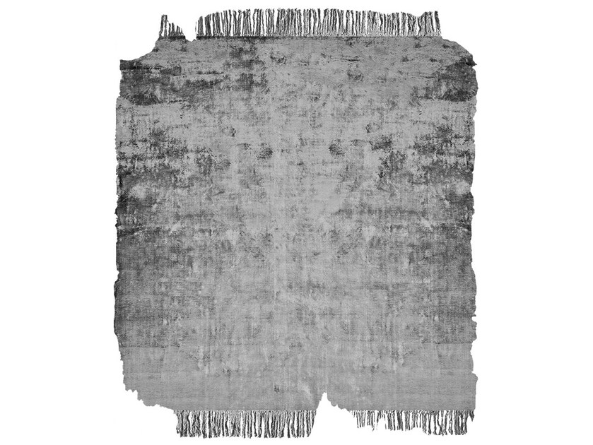 Handmade rug BARTAURE SILVER FROZEN CUT by HENZEL STUDIO
