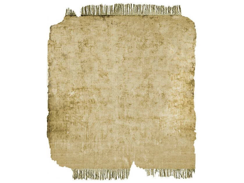 Handmade rug BARTAURE SUNDRE GOLD FROZEN CUT by HENZEL STUDIO
