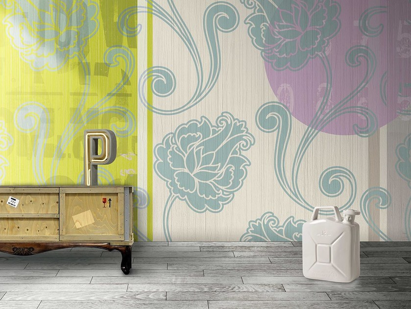 Washable panoramic vinyl wallpaper BARTENDER / GINGER ALE by N.O.W.  Edizioni