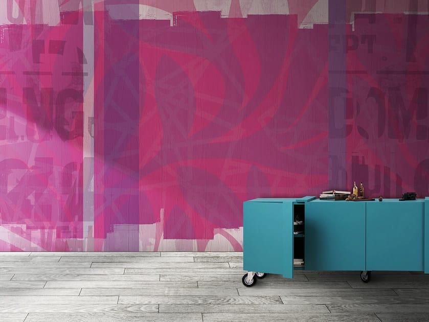 Washable panoramic vinyl wallpaper BARTENDER / SPRITZ by N.O.W.  Edizioni