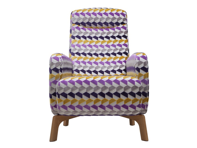 Fabric armchair with armrests BAS | Armchair by SOFTREND