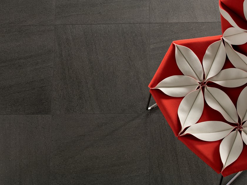Indoor/outdoor wall/floor tiles with stone effect BASALTINA STONE PROJECT STUCCATA by LEA CERAMICHE