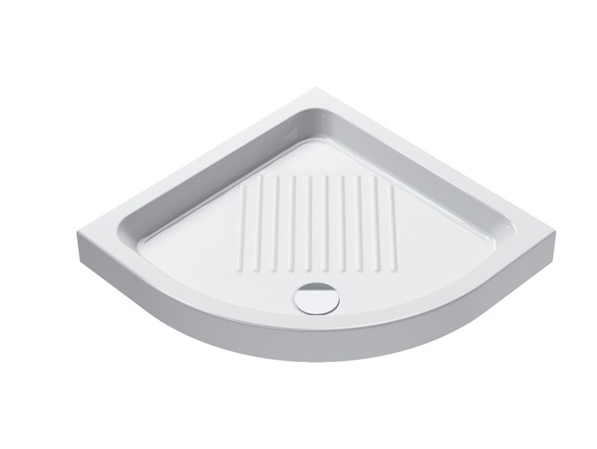 Corner anti-slip shower tray BASE | Anti-slip shower tray by CERAMICA CATALANO