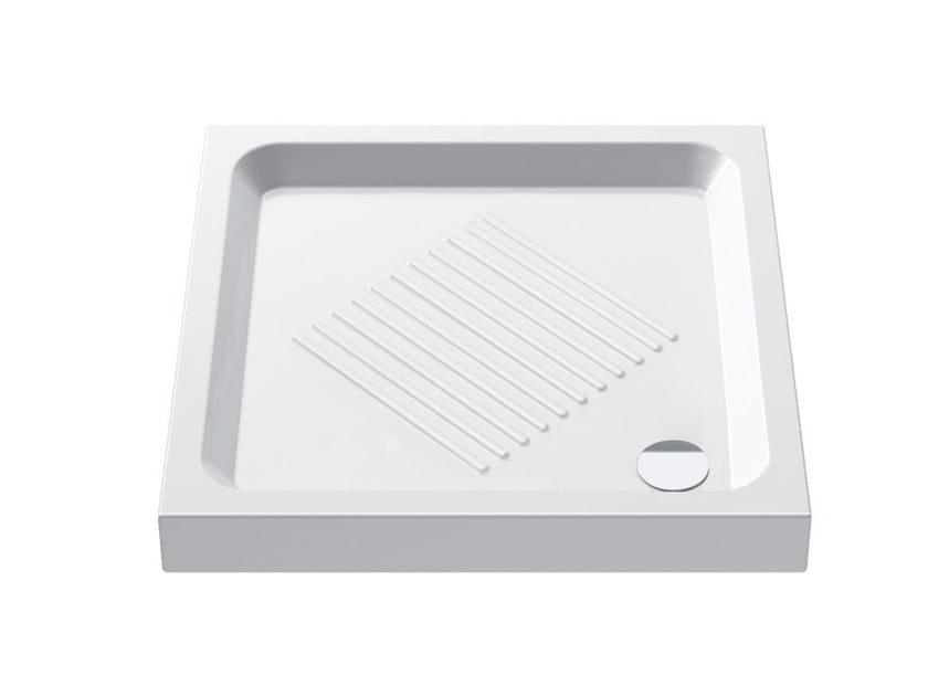 Corner anti-slip shower tray BASE | Corner shower tray by CERAMICA CATALANO