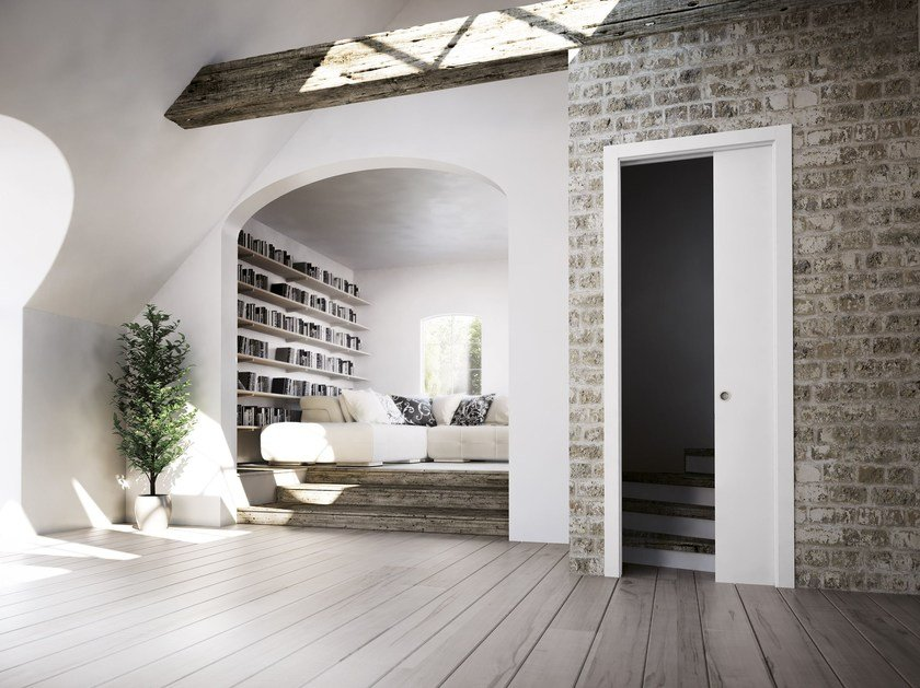 Counter frame for single sliding door BASE by SCRIGNO