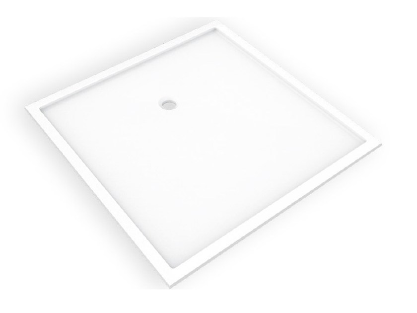 Square Corian® shower tray BASES SBR by AMA Design