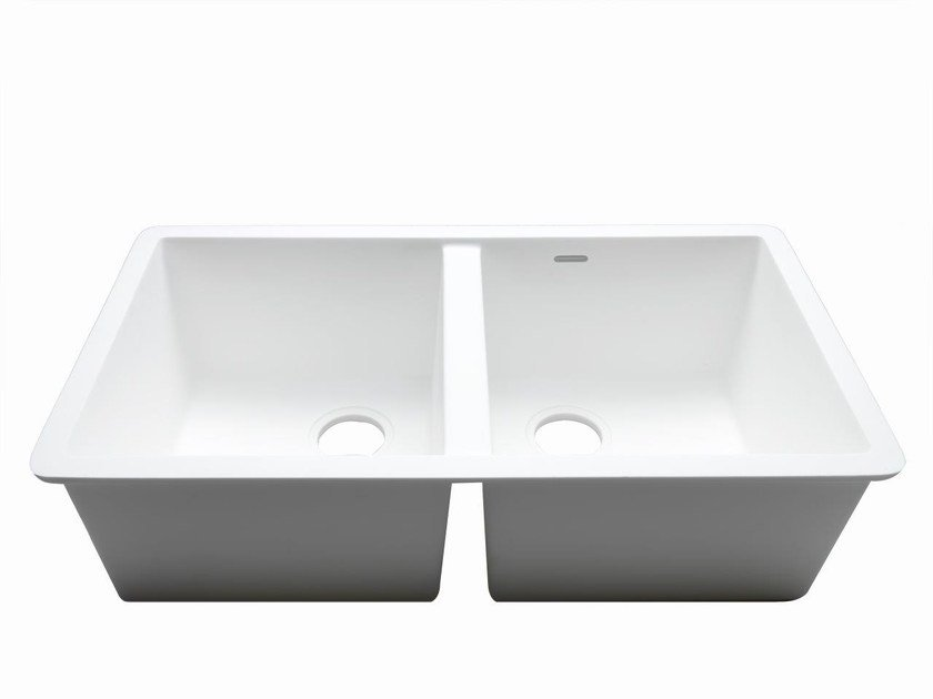2 bowl built-in Krion® sink BASIC | 2 bowl sink by Systempool