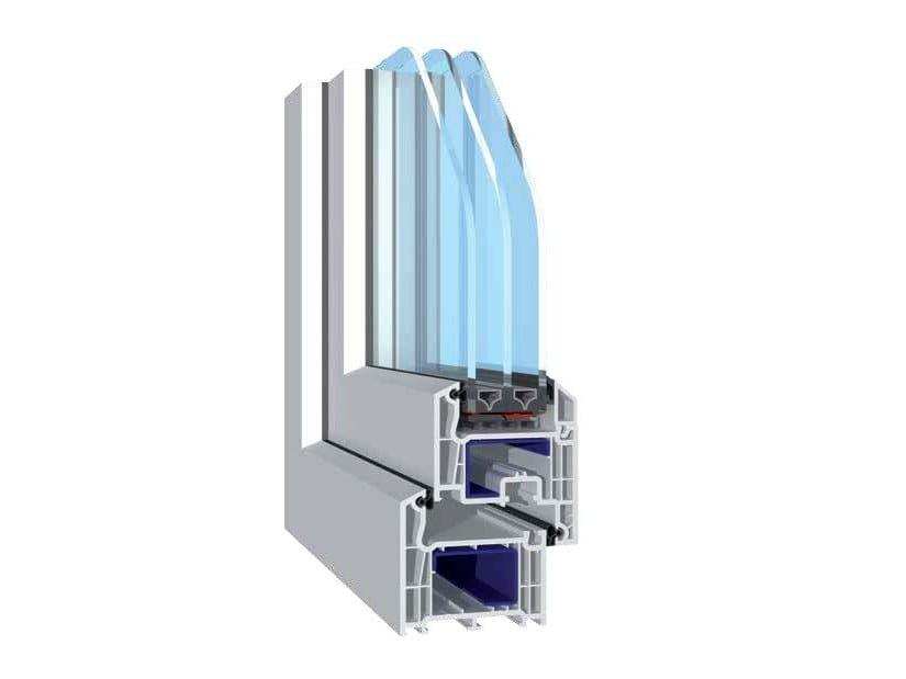 PVC casement window BASIC 73 by NUSCO