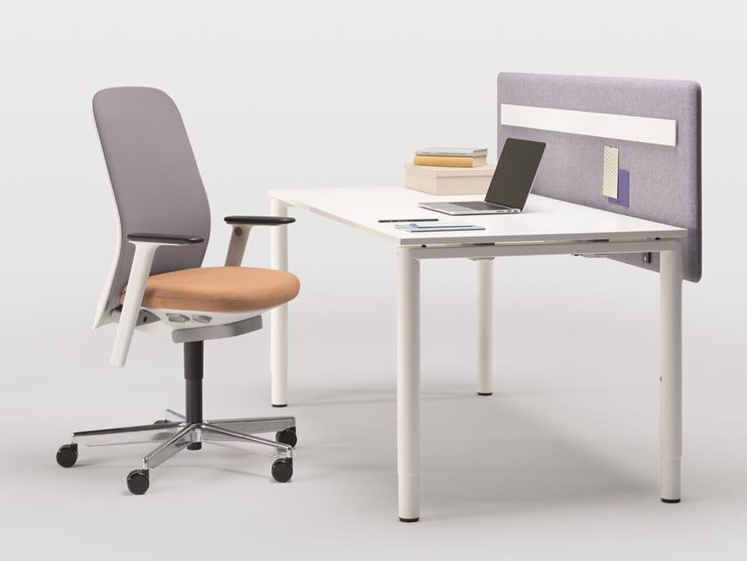 Sectional melamine workstation desk BASIC by BENE