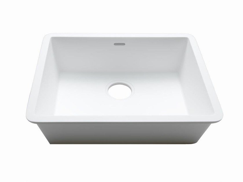 Single built-in Krion® sink BASIC | Single sink by Systempool