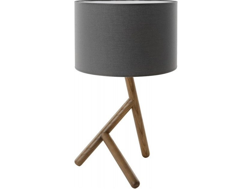 Fabric table lamp BASILE | Table lamp by Flam & Luce