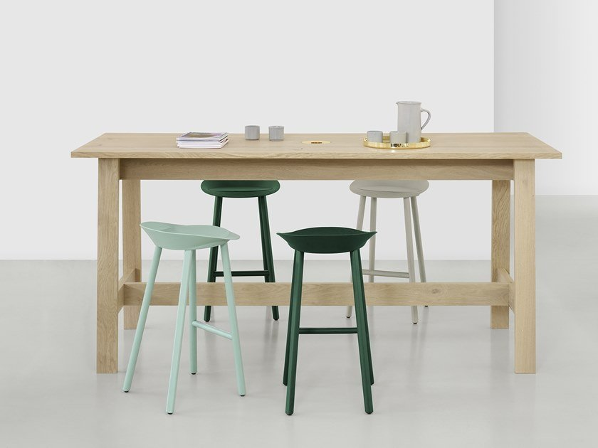 Rectangular solid wood high table BASIS | High table by e15