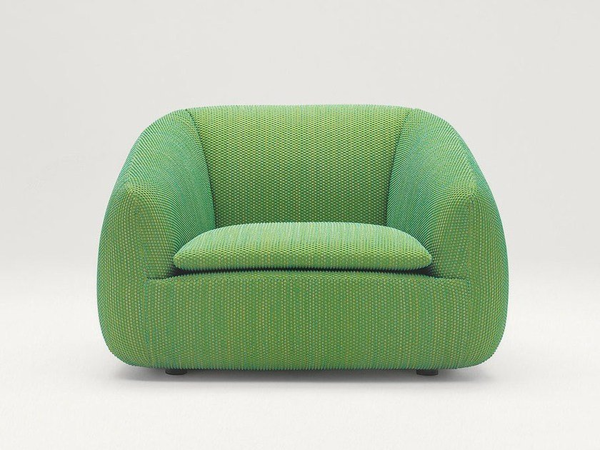 Upholstered polyamide armchair BASK S | Armchair by paola lenti