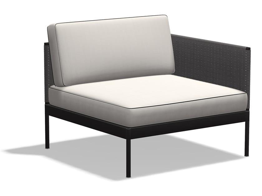 Corner Batyline® garden armchair BASKET | Corner garden armchair by RODA