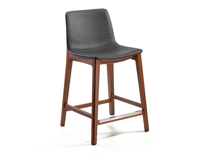 Upholstered stool BASSANO | Stool by Trevisan Asolo