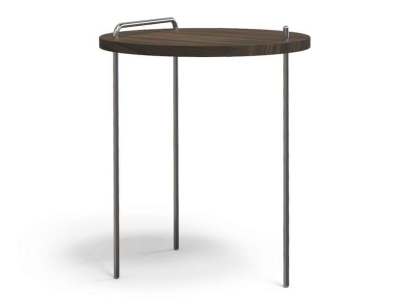 Round walnut coffee table BASSOTTI   Walnut coffee table by STUDIO SCHÜTZDELLER