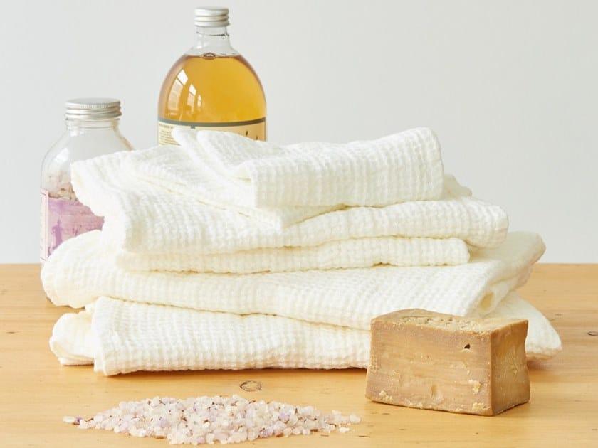 Linen waffle towel WHITE | Bath Towel by Linen Tales