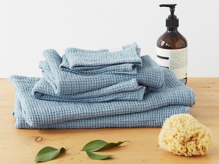 Linen waffle towel DUSTY BLUE | Bath Towel by Linen Tales