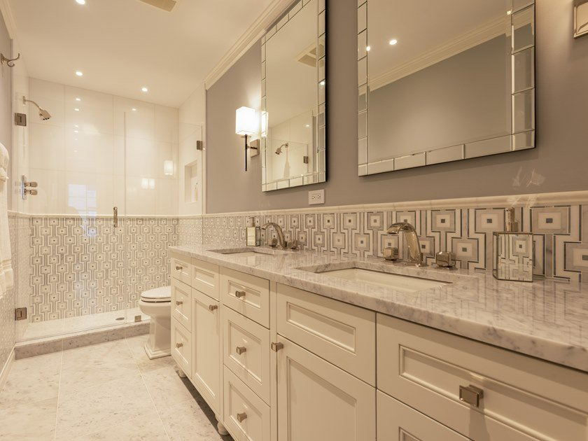 Solid wood bathroom furniture set CUSTOM   Mobile bagno Chicago by Martini Interiors
