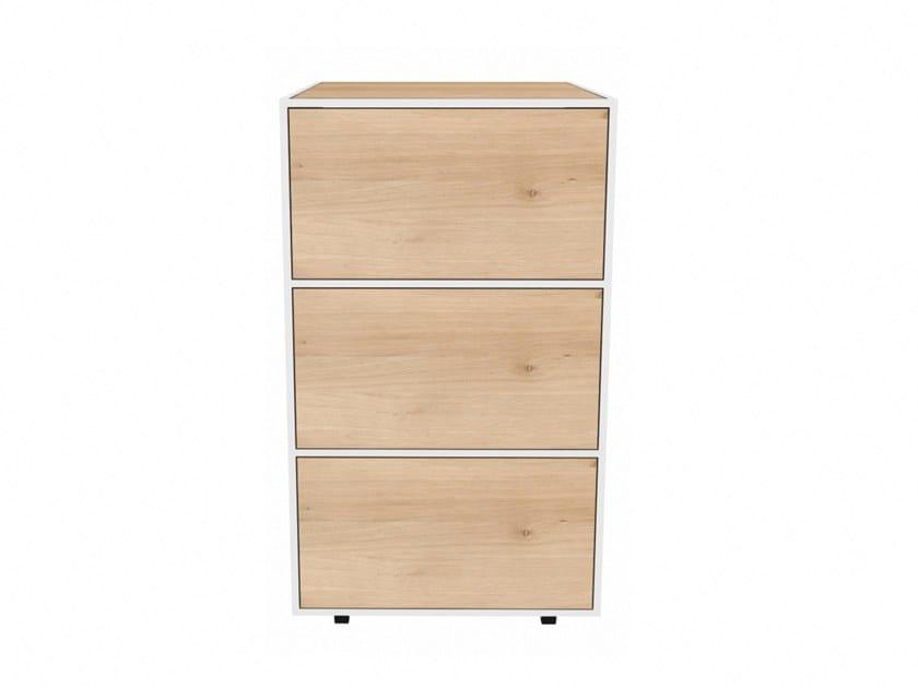 Oak bathroom cabinet with drawers OAK WHITE SENSE | Bathroom cabinet with drawers by Ethnicraft