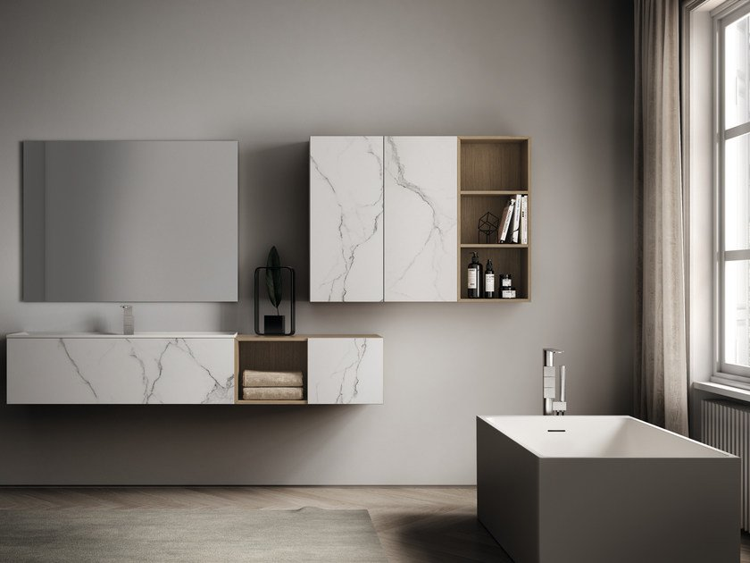 Bathroom furniture set DOGMA BY AQUA | Bathroom furniture set by Idea