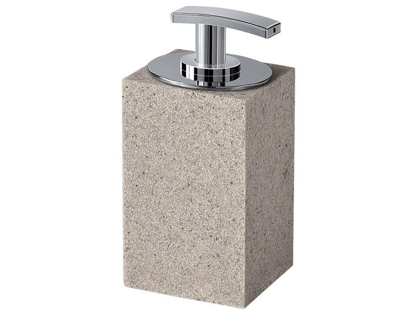 Resin Bathroom soap dispenser MINERVA   Bathroom soap dispenser by GEDY