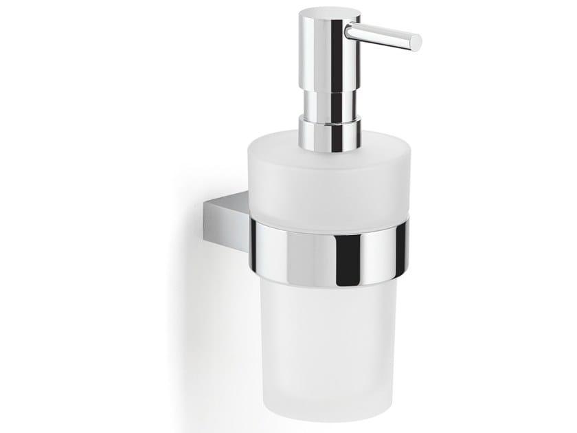 Wall-mounted satin glass Bathroom soap dispenser CANARIE   Bathroom soap dispenser by GEDY