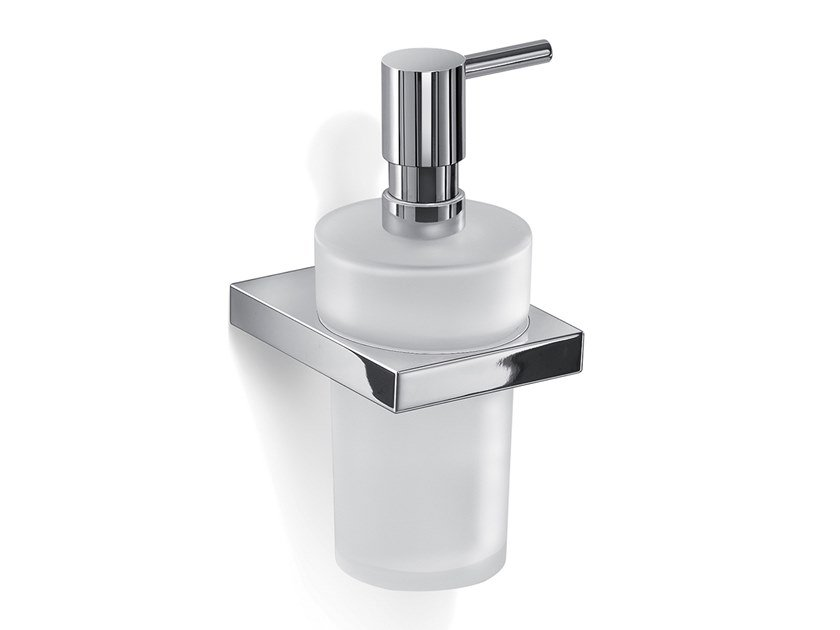Wall-mounted glass Bathroom soap dispenser LANZAROTE | Bathroom soap dispenser by GEDY