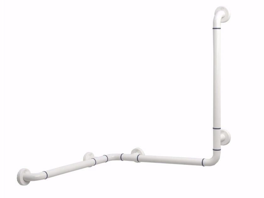 L-shaped fixed extruded aluminium grab bar NYLON | Bathtub grab bar by Saniline