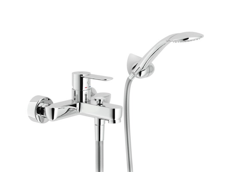 Wall-mounted bathtub mixer with hand shower SAND | Bathtub mixer with hand shower by Nobili Rubinetterie